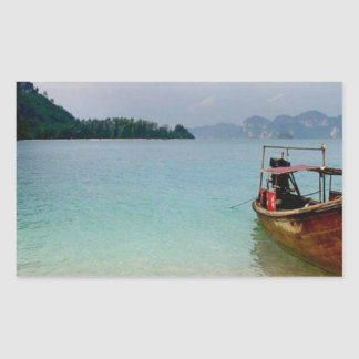 Thailand Krabi beach (new) (St.K) Rectangular Sticker