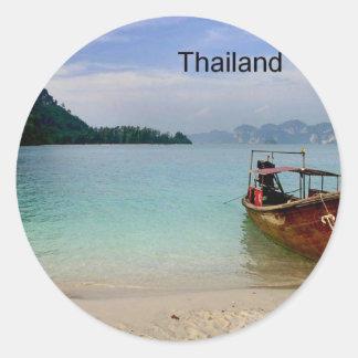 Thailand Krabi beach (new) (St.K) Round Stickers