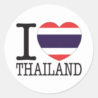 Thailand Love v2 Round Sticker