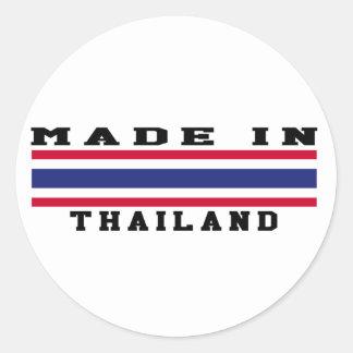 Thailand Made In Designs Round Sticker