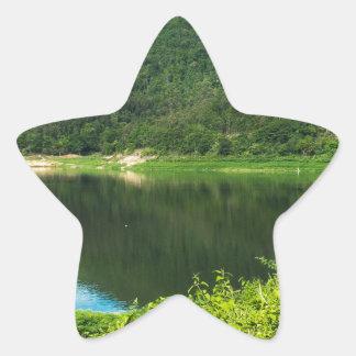 Thailand mountain star sticker