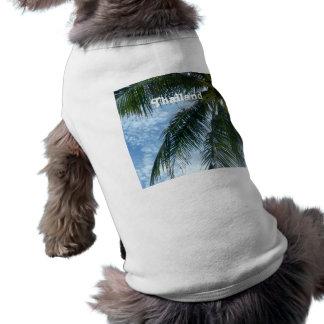 Thailand Palm Tree Sleeveless Dog Shirt