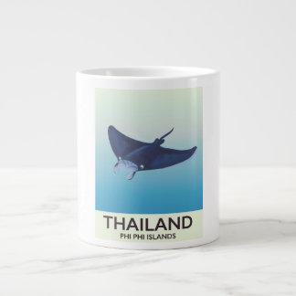 Thailand Phi Phi Islands Travel poster Large Coffee Mug