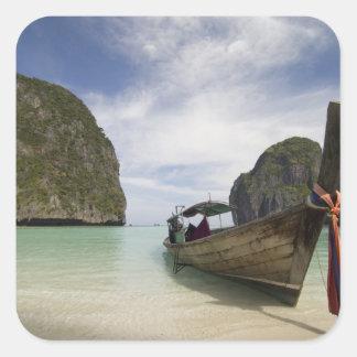 Thailand, Phi Phi Lay Island, Maya Bay. Square Sticker