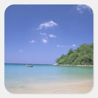 Thailand, Phuket Island. Beach. Square Sticker
