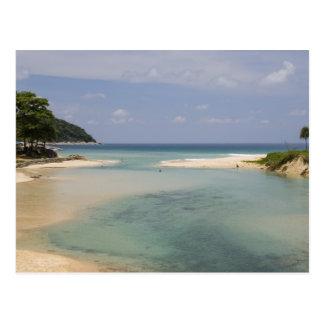 Thailand, Phuket, Nai Harn beach. Postcard