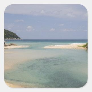 Thailand, Phuket, Nai Harn beach. Square Sticker