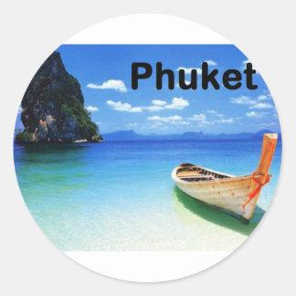 Thailand Phuket (St.K) Classic Round Sticker