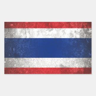 Thailand Rectangular Sticker