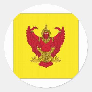 Thailand Royal Standard Round Sticker