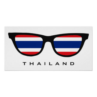 Thailand Shades custom text & color poster