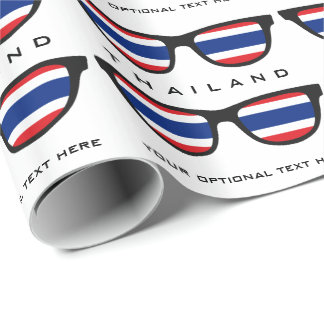 Thailand Shades custom text & color wrapping paper
