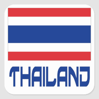 Thailand Square Sticker