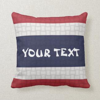 Thailand Thai Flag: ADD TEXT Throw Cushion