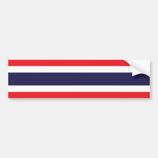 Thailand/Thai Flag Bumper Sticker
