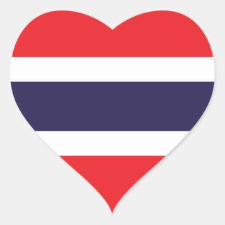 Thailand/Thai Flag Heart Sticker
