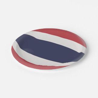 Thailand Thai Flag Paper Plate