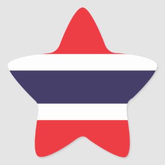 Thailand/Thai Flag Star Sticker