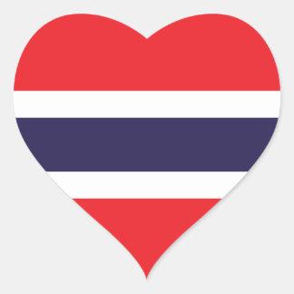 Thailand/Thai Heart Flag Sticker