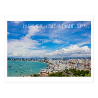 Thailand view point tourist attraction postcard