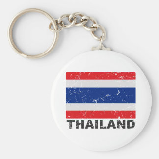 Thailand Vintage Flag Key Ring