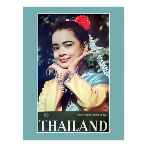 Thailand | Vintage South-East Asia Travel Poster Postcard