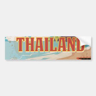 Thailand Vintage Travel Poster Bumper Sticker