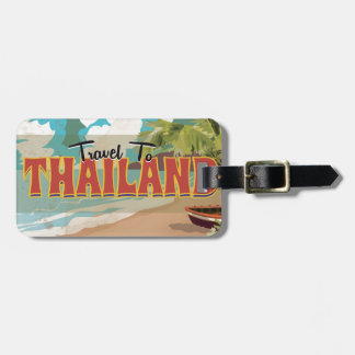 Thailand Wedding Travel poster Luggage Tag