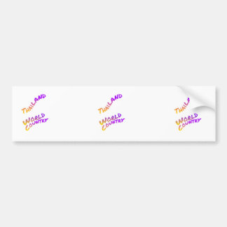 Thailand world country, colorful text art bumper sticker