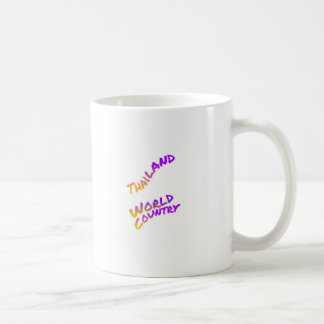 Thailand world country, colorful text art coffee mug