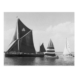 Thames barge race 1975 postcard