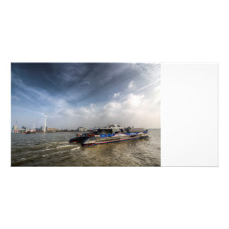 Thames Clipper And Cable Car Custom Photo Card