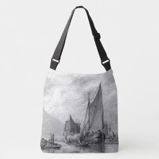 Thames River Old Fishing Boats England Tote Bag
