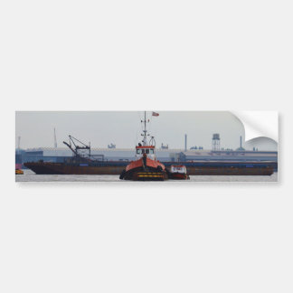 Thames Tug And Motorboat Bumper Sticker