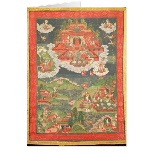 Thangka of the Paradise of Amitabha Greeting Card