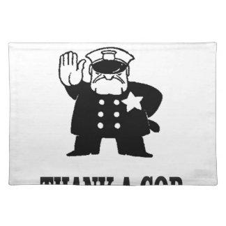 thank a cop place mat