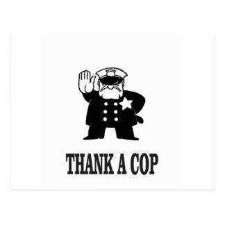 thank a cop postcard