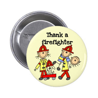 Thank a Firefighter Tshirts and Gifts 6 Cm Round Badge