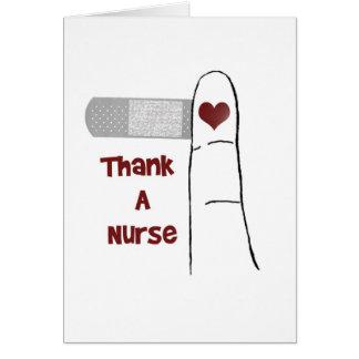 Thank A Nurse Blank Greeting Card