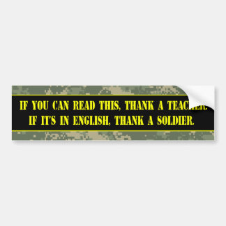 Thank a Soldier Bumper Sticker