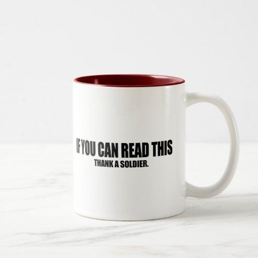 Thank a soldier mug
