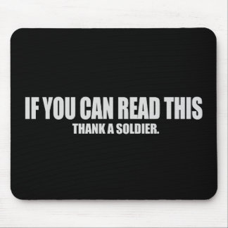 Thank a soldier T-shirt Mouse Pad