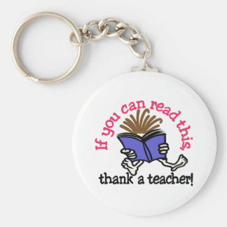 Thank A Teacher Key Ring