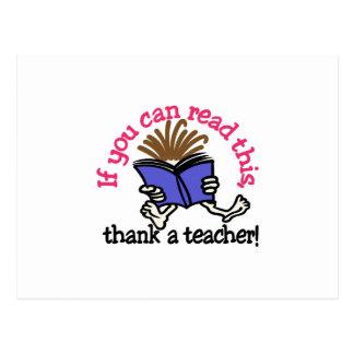 Thank A Teacher Postcard