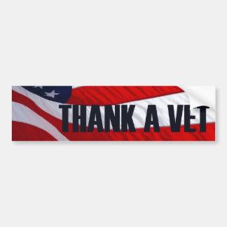 Thank a Vet American Flag Bumper Sticker