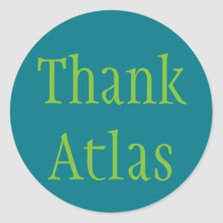 Thank Atlas Classic Round Sticker