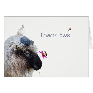 Thank Ewe: A whimsical card