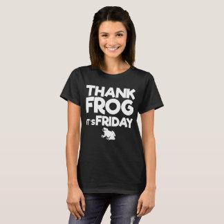 Thank Frog It's Friday Amphibian Joke T-Shirt