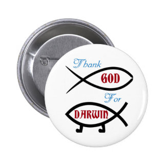 Thank God For Darwin 6 Cm Round Badge