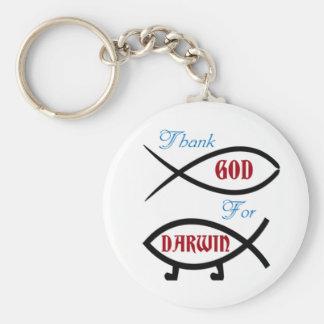 Thank God For Darwin Key Ring